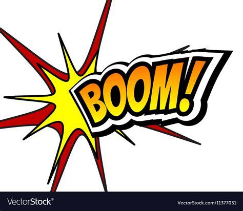 Boom Comic Speech Bubble Cartoon Pop Art Vector Image