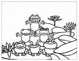Frog Coloring Printable Sheet Frogs Imprimer Dessin Colorier Happy Monkey sketch template