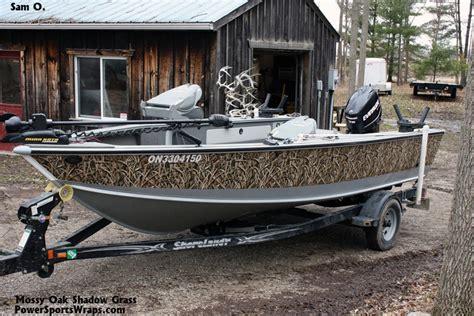 Camo Boat by Mossy Oak Shadow Grass Boat Wrap