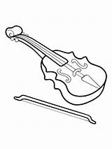Coloring Musical Instrument Instruments Printable Mycoloring sketch template