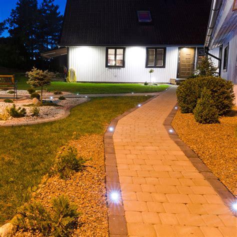 6er Set Eckige Solar Bodeneinbau Strahler Für Garten