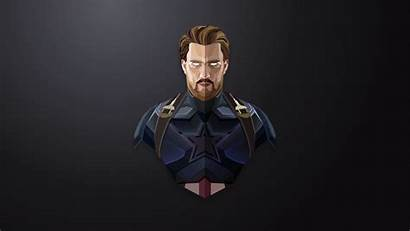 Captain America Minimalist Minimalism Poly Low Lowpoly