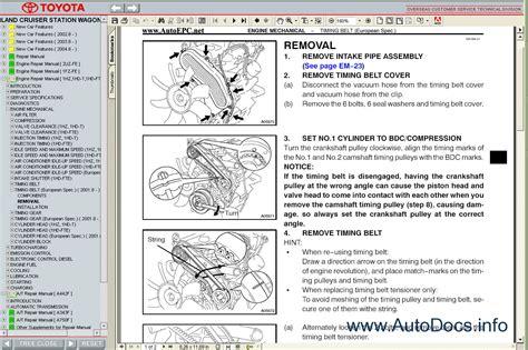toyota land cruiser station wagon  service manual repair manual order