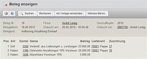 Rechnung Buchen : buchen von geleisteten anzahlungen mit der online buchhaltungssoftware collmex verwendung des ~ Themetempest.com Abrechnung
