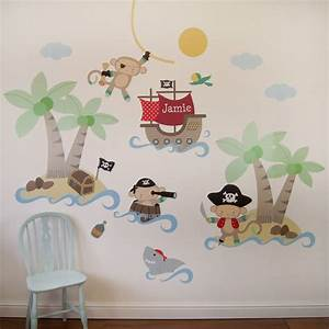pirate monkey wall stickers by parkins interiors With pirate wall decals