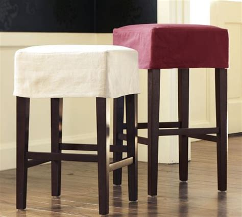 slipcovers for bar chairs diy backless barstool slipcovers great way to refresh a