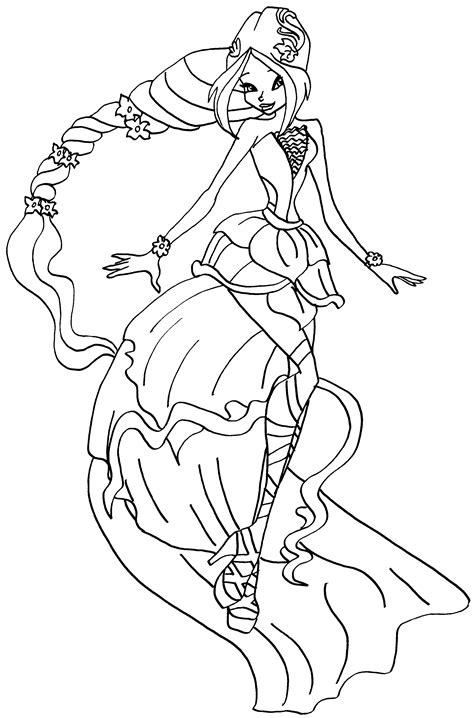winx princess coloring pages   print