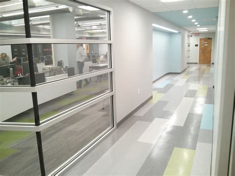 tectum concealed corridor ceiling panels northeastern ece classroom renovation complete