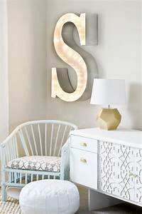 how to decorate with diy marquee letters blissfully domestic With letter light decor