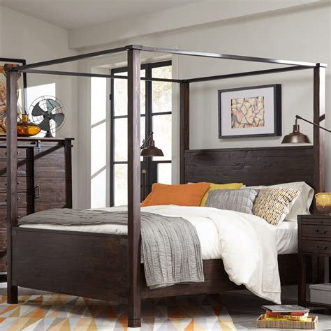 wood canopy bed pine hill wood canopy bed in rustic pine humble abode