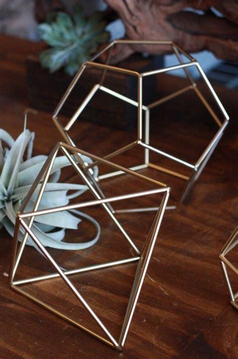 love  gold geometric prisms  tabletop decor