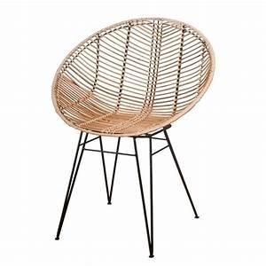 Retro Sessel Günstig : korb rattan stuhl sakura im hoop design f r esstisch oder ~ A.2002-acura-tl-radio.info Haus und Dekorationen