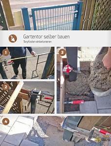 Metallzaun Selber Bauen : gartentor selber bauen torpfosten einbetonieren anleitung ~ Whattoseeinmadrid.com Haus und Dekorationen