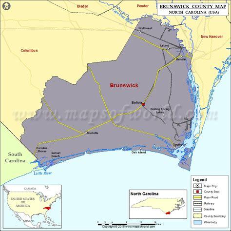 brunswick county map north carolina