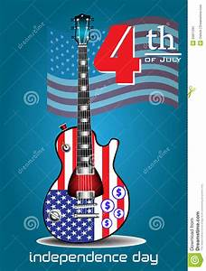 Fourth Of July Electric Guitar Stock Vector - Image: 55811291