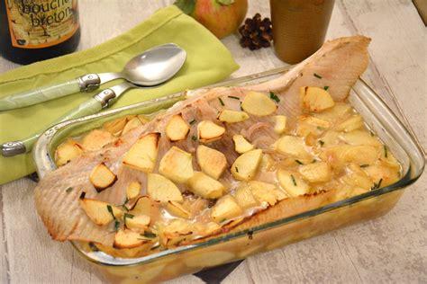 cuisiner raie aile de raie au cidre et aux pommes et toujours au four