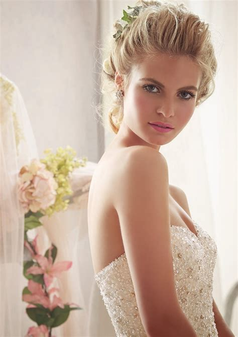 sparkling allover beading  net morilee bridal wedding