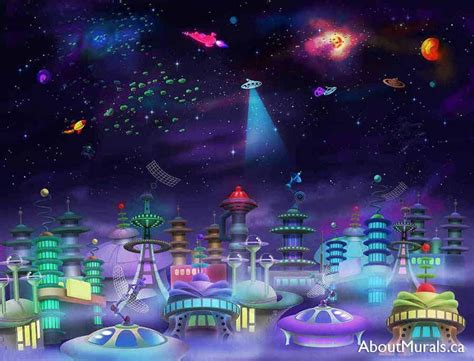 space city wall mural removable wallpaper