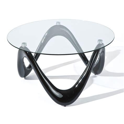 table cuisine verre trempé table basse ronde noir verre 80 cm 20801370
