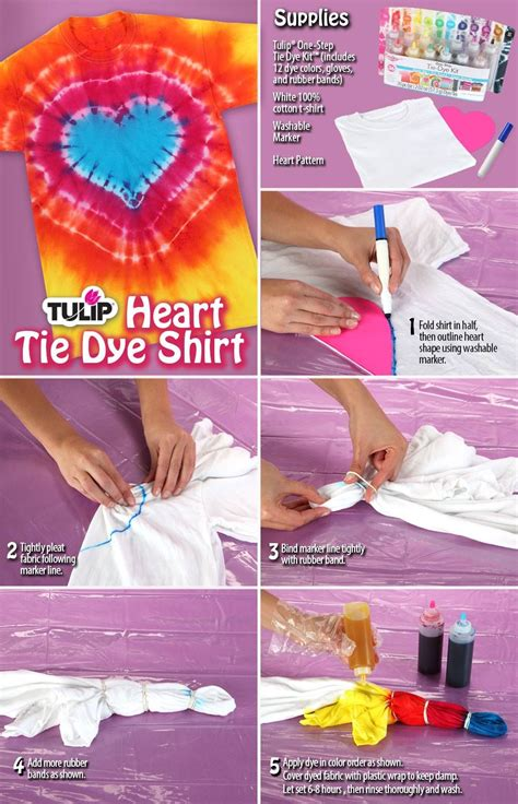 Tulip One Step Tie Dye Heart Technique Things To Try