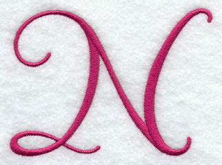 fancy letter n designs machine embroidery designs at embroidery library