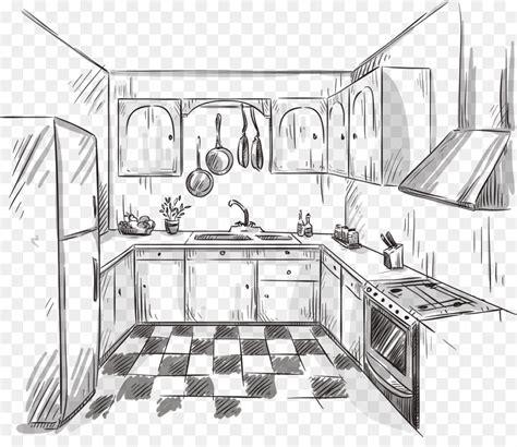 Kuche Zeichnung by Kitchen Drawing Interior Design Services Sketch