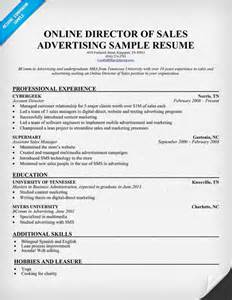 director of sales resume exles build your own resume