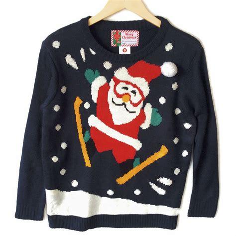tacky sweater ski jumping santa tacky sweater the