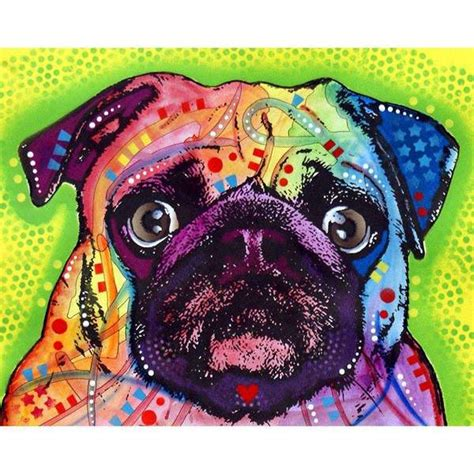 pug dog wall sticker decal animal pop art  dean russo