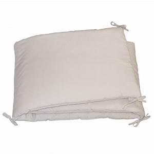 Tour De Lit Gris : tour de lit uni gris clair en percale de coton fabrication fran aise ~ Teatrodelosmanantiales.com Idées de Décoration