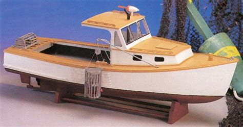 maine lobster boat wood model boat kit mw  historic scale wooden model boat kit