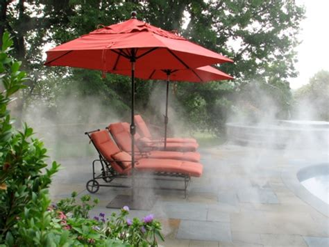 umbrella with fan and mister outdoor misting systems luxury pools