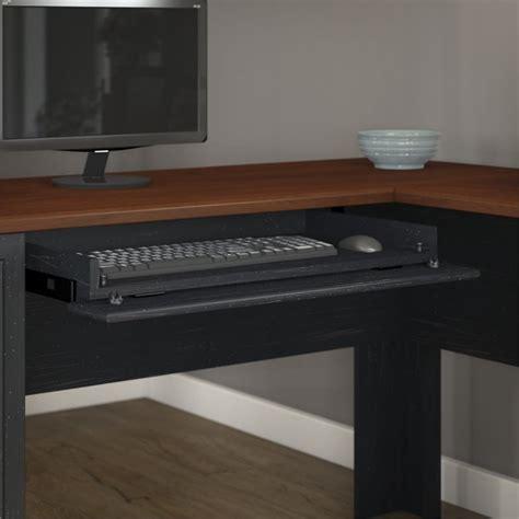 black wood computer desk features