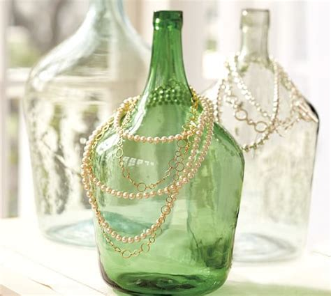 vintage glass wine bottle vases pottery barn