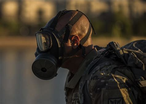 dvids images gas mask ruck march image