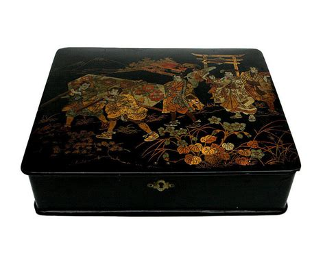 japanese papier mache writing box  tray  sale