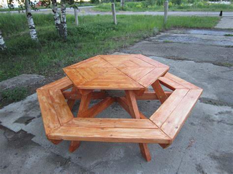 ana white hexagon table diy projects
