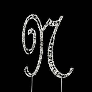 vintage swarovski crystal wedding cake topper letter n With letter n cake topper