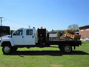 2008 Gmc Topkick C5500 4x4 Crew Cab 4wd W   11 Ft Flat Bed For Sale