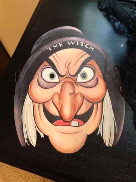 witch halloween antique disney snow white  hag paper