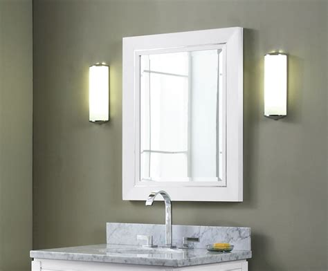 Bathroom Mirrors : Manhattan 30 Inch Contemporary Bathroom Vanity White Finish
