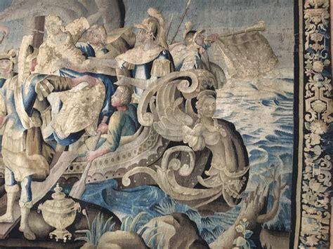 tapisserie daubusson le retour dhelene  sparte epoque