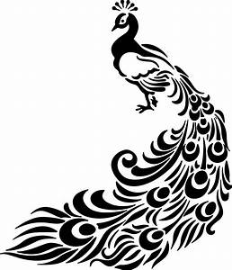 Clipart - Peacock Lineart