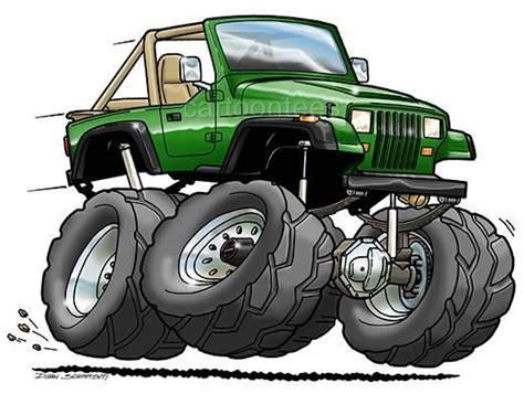Jeep Wrangler Yj Cartoon Tshirt 0561 Ga Muscle Car Auto Ebay