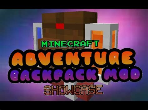 Minecraft Mod Reviewadventure Backpack 1710 Youtube