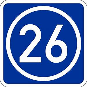 Number 26 - Free Picture of the Number Twenty Six