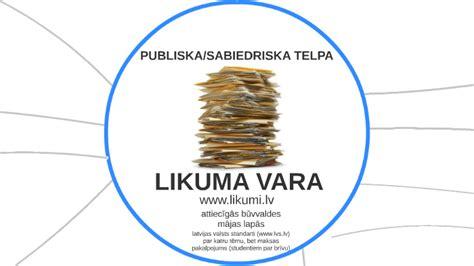 LIKUMA VARA by Nora Saulespurena