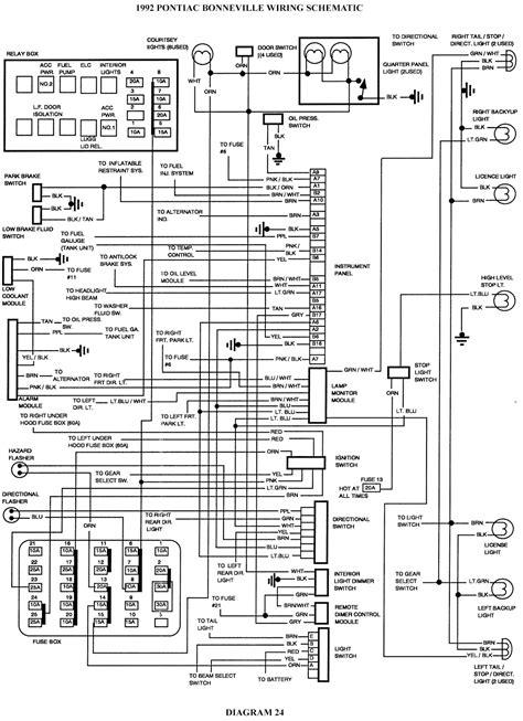 pontiac bonneville wiring schematic schematic