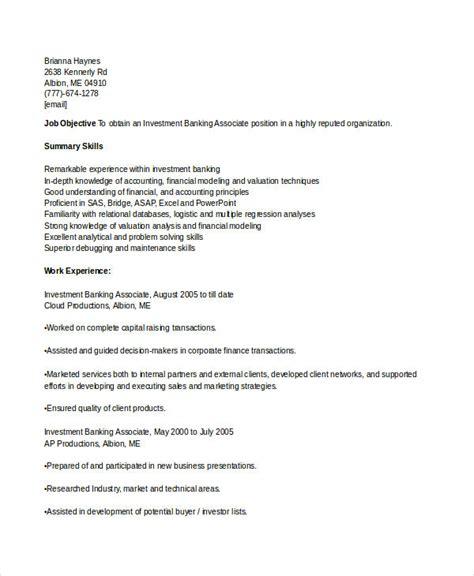 banking resume sles 45 free word pdf documents