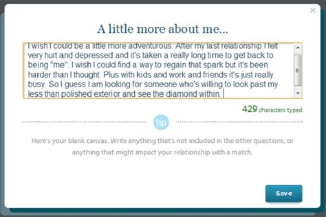 a more about me eharmony dating advice site